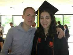 Me with a good friend on graduation day!
